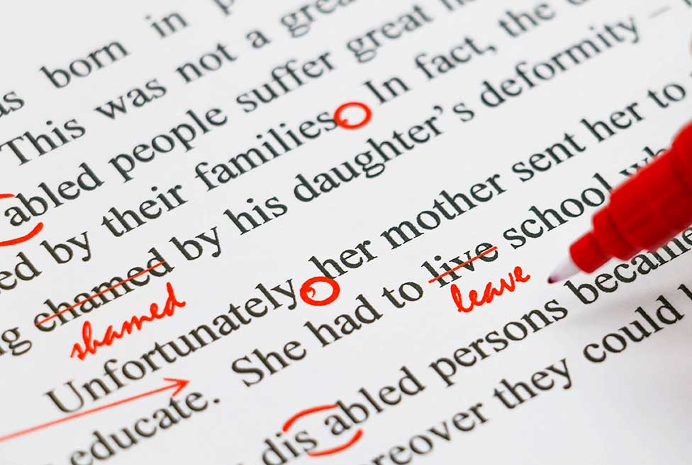 Copy Editing & Proofing -