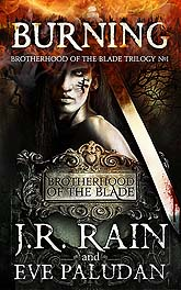 Sample Book Cover Design Burning  Brotherhood of the Blade Trilogy D2 1