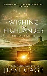 Book Cover Design Sample Wishing for a Highlander