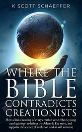 Book Cover Design Where the Bible Contradicts Creationists 03